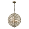 ELK lighting Elizabethan 8 Light Pendant In Dark Bronze