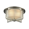 Vancourt 3 Light Flush In Satin Nickel With Frosted Glass