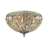 ELK lighting Elizabethan 3 Light Flush In Weathered Zinc