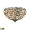 ELK lighting Elizabethan 3 Light LED Flush In Weathered Zinc