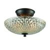 Sweetwater 2 Light Semi Flush In Oil Rubbed Bronze With Clear Crystal Glass
