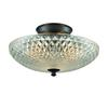 Sweetwater 3 Light Semi Flush In Oil Rubbed Bronze With Clear Crystal Glass