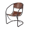 Lazy Susan Retro Round Back Leather Lounger