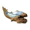 Teak Root Bowl With Aluminum Insert - Short