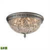 Renaissance 6 Light LED Flush In Weathered Zinc