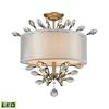 ELK lighting Asbury 3 Light LED Semi Flush In Aged Silver