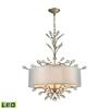 ELK lighting Asbury 4 Light LED Chandelier In Aged Silver