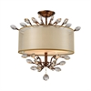 Asbury 3 Light LED Semi Flush In Spanish Bronze