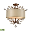 ELK lighting Asbury 3 Light LED Semi Flush In Spanish Bronze