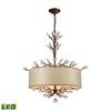 ELK lighting Asbury 4 Light LED Chandelier In Spanish Bronze