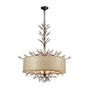 ELK lighting Asbury 6 Light LED Chandelier In Spanish Bronze