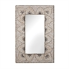 Lazy Susan Flower Arc Shell Mirror