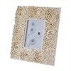 Lazy Susan 5X7 Natural Shell Flower Pattern Frame