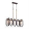 ELK lighting Owen 7 Light Chandelier In Oil Rubbed Bronze And Antique Brass