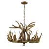 Elk 6 Light Chandelier In Wood Brown