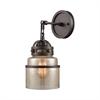 Gramercy 1 Light Wall Sconce In Oil Rubbed Bronze With Mercury Glass