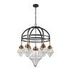 Gramercy 7 Light Chandelier In Oil Rubbed Bronze With Classic Brass Highlights And Clear Glass