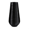 Lazy Susan Black Ribbed Planter