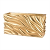 Lazy Susan Swirl Table Planter - Gold Leaf