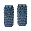 Accordion Crackled Blue Jars