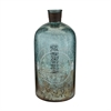 "Sterling 18"" Aqua Antique Mercury Glass Bottle"