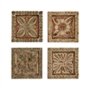 Set of 4 Carved Wall Plaques