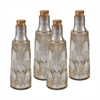 "Set of Four 8"" Mouth Blown Mercury Glass Bottle"