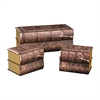Set of 3 Antique Book Trunks