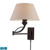 ELK lighting Elysburg 1 Light LED Swingarm Sconce In Aged Bronze
