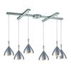 ELK lighting Spun Aluminum 6 Light Pendant In Aluminum