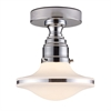 ELK lighting Retrospective 1 Light Semi Flush In Polished Chrome