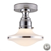 ELK lighting Retrospective 1 Light Semi Flush In Polished Chrome - Includes Recessed Lighting Kit