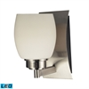 ELK lighting Northport 1 Light LED Vanity In Satin Nickel And Opal White Glass