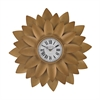 Sterling Gold Petal Wall Clock