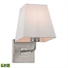 ELK lighting Beverly 1 Light LED Wall Sconce In Brushed Nickel