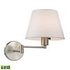 Avenal 1 Light LED Swingarm Sconce In Brushed Nickel