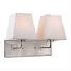 Beverly 2 Light Wall Sconce In Brushed Nickel