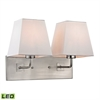 ELK lighting Beverly 2 Light LED Wall Sconce In Brushed Nickel