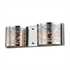 ELK lighting Ventor 2 Light Vanity In Polished Chrome And Etched Stainless Steel