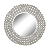 Pierced Metal Frame Disks Mirror