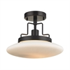 ELK lighting Anza 1 Light Semi Flush In Oil Rubbed Bronze