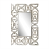 Lazy Susan Rectangular Wall Mirror With D Pattern Frame