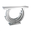 Lazy Susan Layered Crescent Mirrored Console