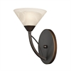 ELK lighting Elysburg 1 Light Vanity In Oil Rubbed Bronze And White Glass