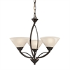 ELK lighting Elysburg 3 Light Chandelier In Oil Rubbed Bronze And White Glass