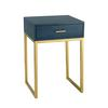 Sterling Shagreen Side Table in Navy
