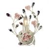ELK lighting Heritage 1 Light Vanity In Cream With Pink Porcelain Accents
