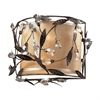 Circeo 2 Light Sconce In Deep Rust And Glass Crystals