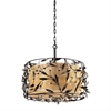 ELK lighting Circeo 3 Light Pendant In Deep Rust And Glass Crystals