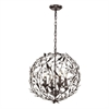 ELK lighting Circeo 4 Light Pendant In Deep Rust